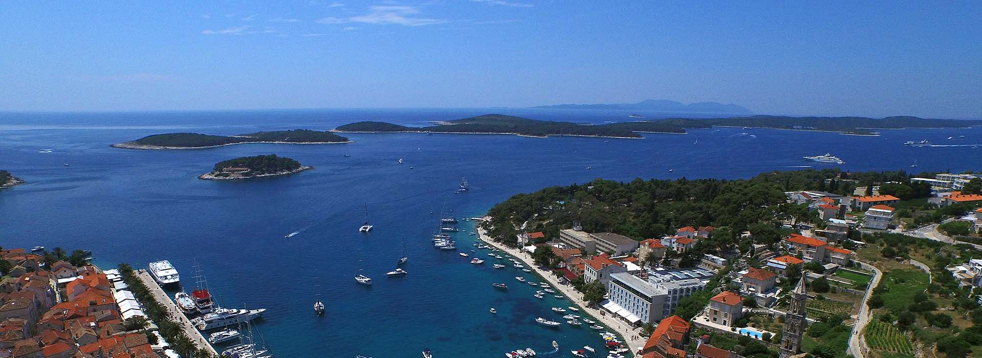 Hvar and Pakleni islands archipelago