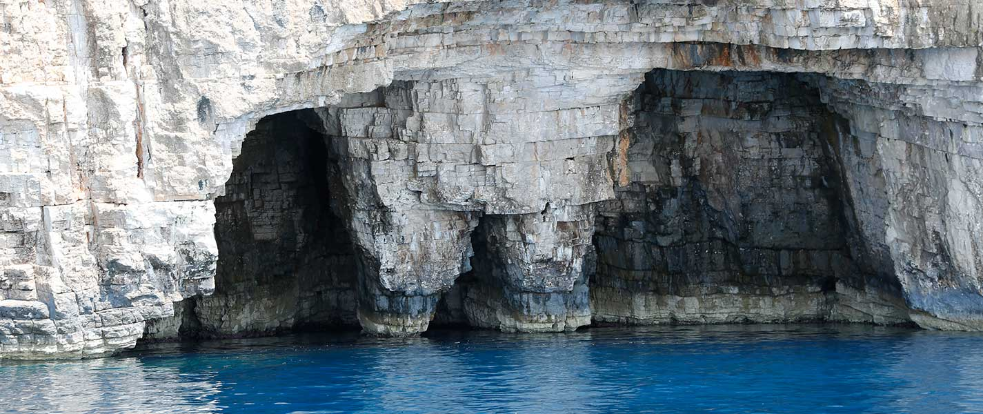 Famous rock formation on south side of Vis island