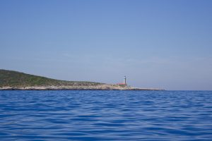 Lighthouse on Vis, on the way to Pakleni islands