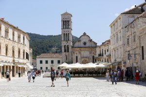 main square in town Hvar